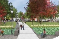 Image: Rendering of the plan for City Hall Park.